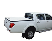 Mitsubishi Triton MN Dual Cab October 2009 to June 2015 Without Sports Bar, With Headboard White Tuff Ute Hard Lid Cover