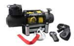 With both wired and wireless remote control, 9000lbs Steel Cable Winch