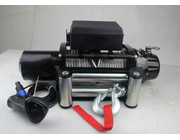 With both wired and wireless remote control, 10 000lbs Steel Cable Winch